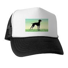 Grassy Field Vizsla Dog Trucker Hat