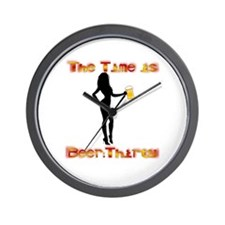 Funny Beer thirty Wall Clock