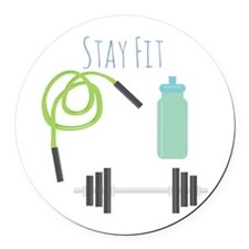 Stay Fit Round Car Magnet