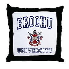 BROCHU University Throw Pillow