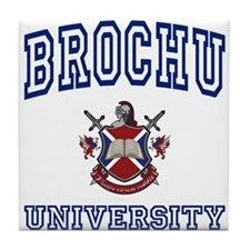 BROCHU University Tile Coaster