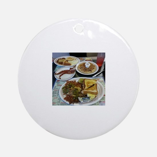Waffle House Ornament (Round)