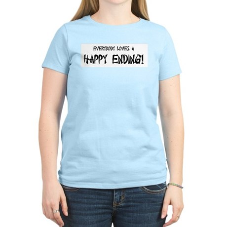 Happy Ending Women's Pink T-Shirt