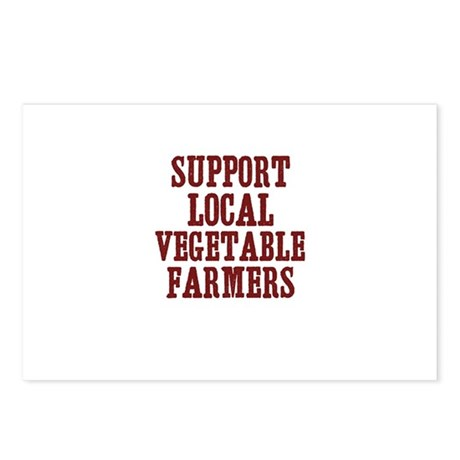 support local vegetable farme Postcards (Package o