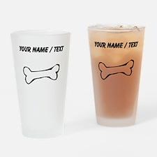 Dog Bone (Custom) Drinking Glass