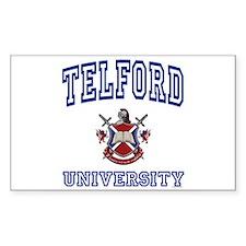 TELFORD University Rectangle Decal