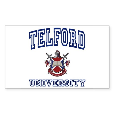 TELFORD University Rectangle Sticker