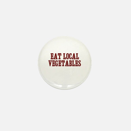 eat local vegetables Mini Button