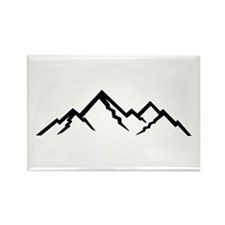 Mountains Rectangle Magnet