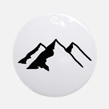 Mountains Ornament (Round)