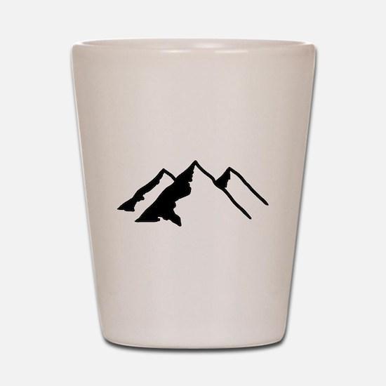 Mountains Shot Glass