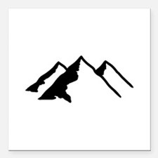 """Mountains Square Car Magnet 3"""" x 3"""""""