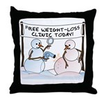 Melting the Pounds Throw Pillow