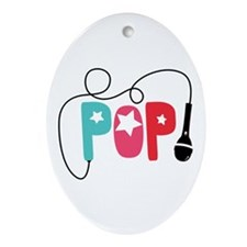 Pop Microphone Ornament (Oval)