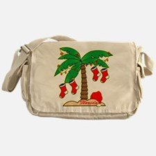 Florida Christmas Tree Messenger Bag