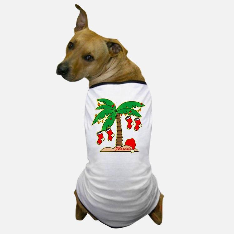 Florida Christmas Tree Dog T-Shirt