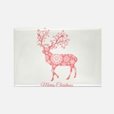 Coral Christmas deer Magnets