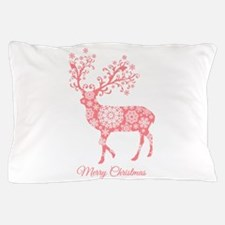 Coral Christmas deer Pillow Case