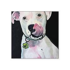 """Unique Pop art pitbull Square Sticker 3"""" x 3"""""""