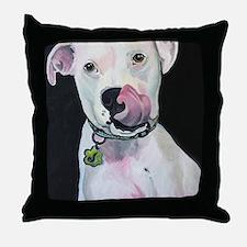 Cute American bulldog Throw Pillow