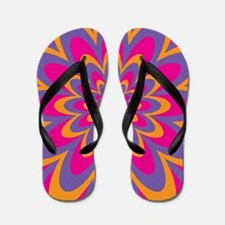 Pop Art Flower Flip Flops