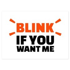 Blink if you want me Invitations