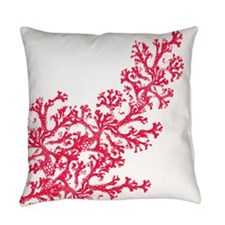 Red Coral Pattern Master Pillow