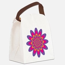 Pop Art Flower Canvas Lunch Bag