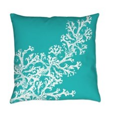 Aqua Coral Pattern Master Pillow