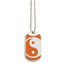 Yin Yang Orange Dog Tags