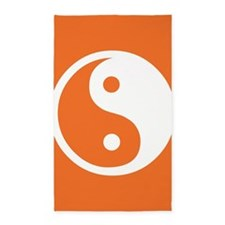 Yin Yang Orange Area Rug