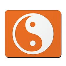 Yin Yang Orange Mousepad