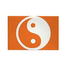 Yin Yang Orange Rectangle Magnet (10 pack)