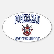 POMERLEAU University Oval Decal