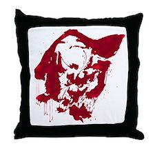 Werewoolf blood stain Throw Pillow