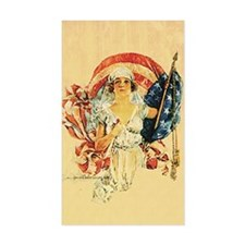 Vintage Patriotic Art Rectangle Decal