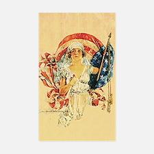 Vintage Patriotic Art Rectangle Decal