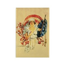 Vintage Patriotic Art Rectangle Magnet