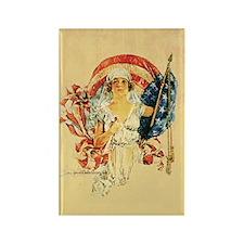 Vintage Patriotic Art Rectangle Magnet
