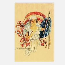 Vintage Patriotic Art Postcards (Package of 8)