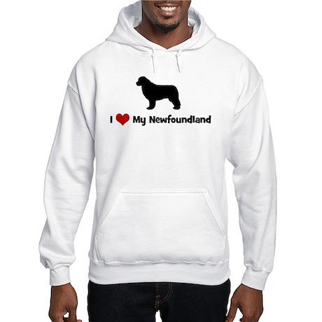 I Love My Newfoundland Hooded Sweatshirt