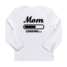Mom loading pregnant Long Sleeve Infant T-Shirt