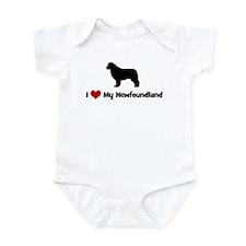 I Love My Newfoundland Infant Bodysuit