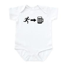Run for beer Infant Bodysuit