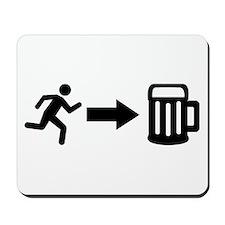Run for beer Mousepad