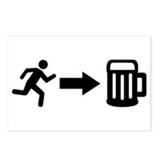 Run for beer Postcards (Package of 8)