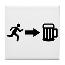 Run for beer Tile Coaster