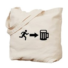 Run for beer Tote Bag