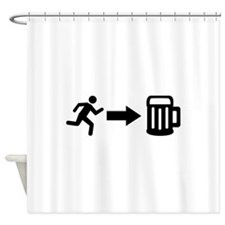 Run for beer Shower Curtain