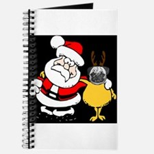Pug with Santa Journal